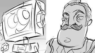 Hello Neighbor Song -- Storyboard Animatic! (by DeadlyComics)