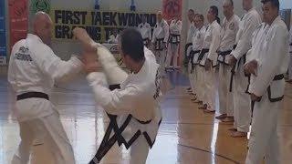 1 vs 11 Taekwondo Sparring