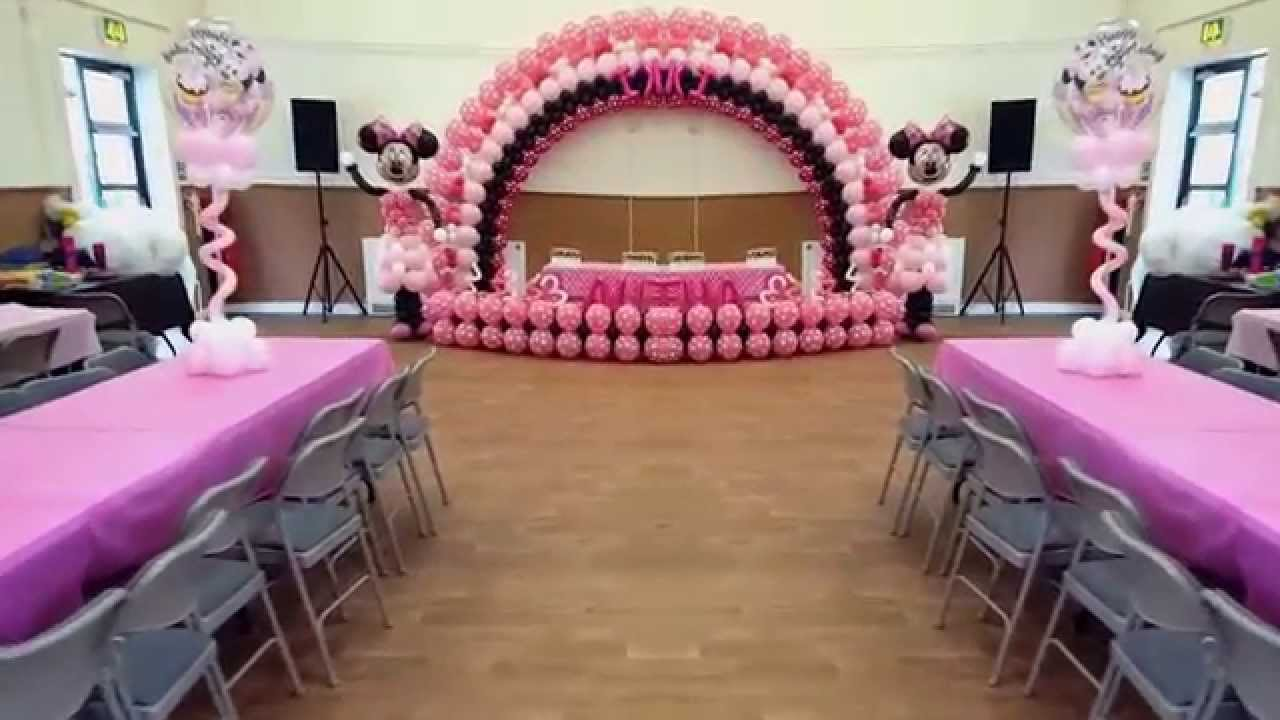 Minnie Mouse Balloon Decor Idea By Byola Partyheaven Youtube