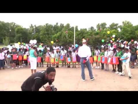 Vicksburg Intermediate School Balloon Release For Mrs. Cooksey