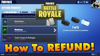 How To REFUND Items in Fortnite (Get VBucks Back)!