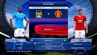 PES 2015 Patch 8 0 Man City v Man Utd UPDATE 8.4, 2.5k Gameplay 60fps