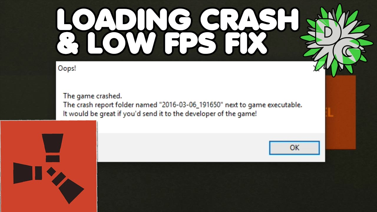 Rust crashes when joining server 2018 | Rust keeps on crashing when