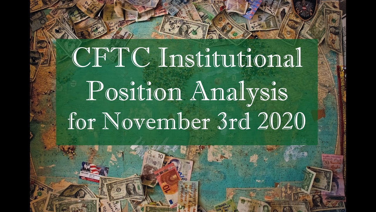 Institutional FOREX positions as of November 3rd 2020 based on CFTC