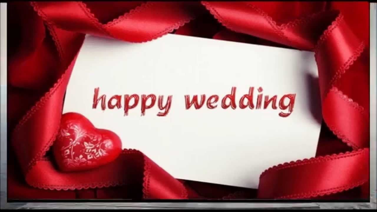 Happy Wedding Wishes Sms Whatsapp Video Congratulations Message For Marriage Youtube