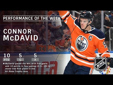 Connor McDavid leads race for Art Ross Trophy after outstanding 10-point week