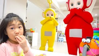 텔레토비 친구들이 놀러왔어요~ 인기동요 Learn Colors with Teletubbies Johny Johny Yes Papa Song and Nursery Rhymes