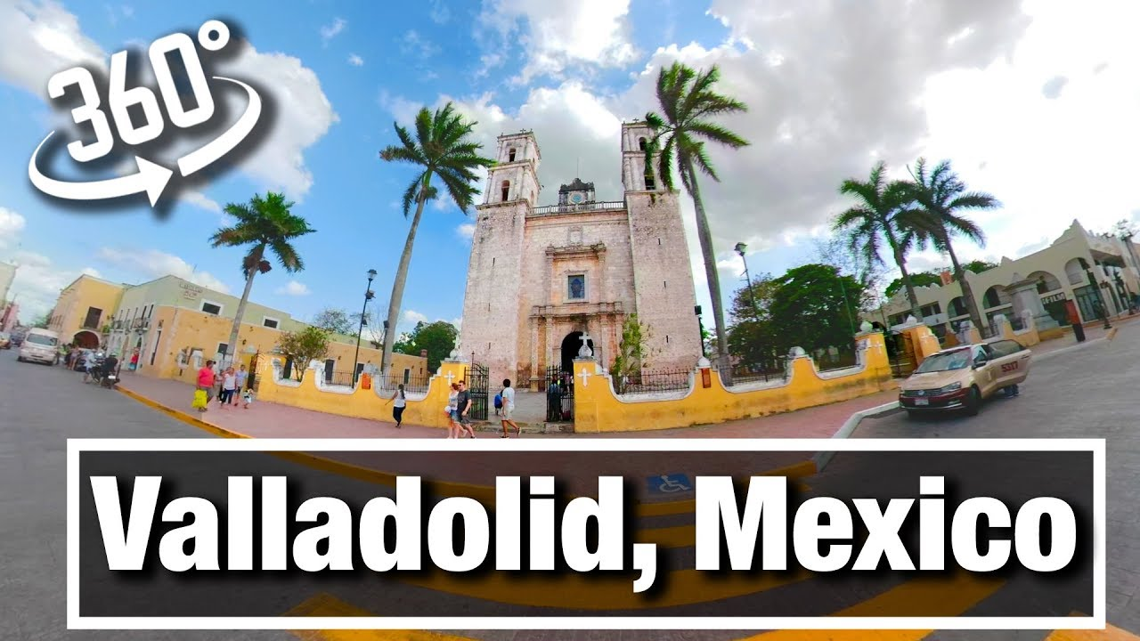 5K City Walks: Valladolid Mexico - Colonial City in the Yucatan virtual treadmill walk