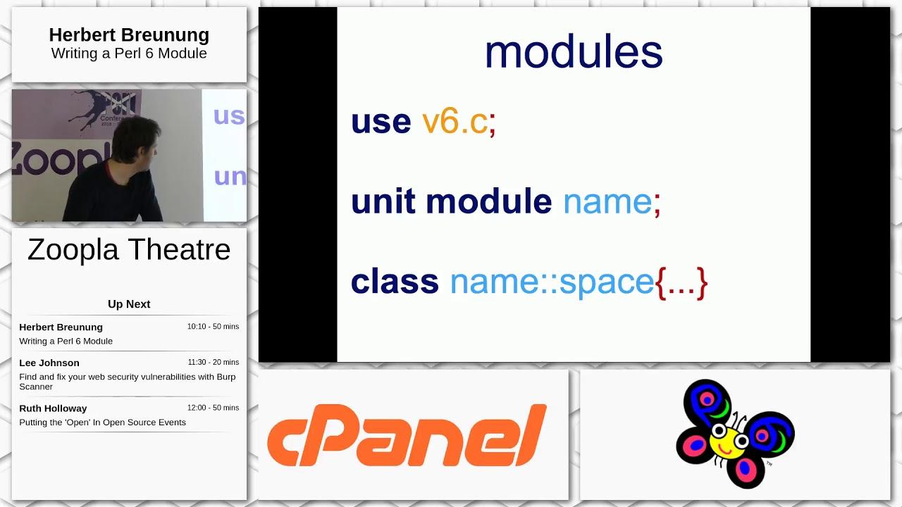 Day 3: Zoopla Theatre: Herbert Breunung - Writing a Perl 6 Module