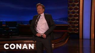 Conan Drops Trou & Flashes His Huge Bruise - CONAN on TBS