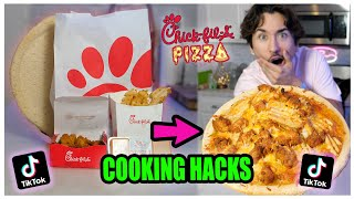 We TASTED Viral TikTok Cooking Life Hacks... (Chick-fil-a PIZZA?) *Part 6*
