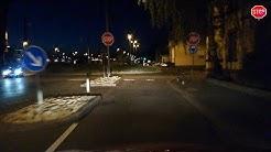 Fahrt durch St. Wendel bei Nacht Juni 2019