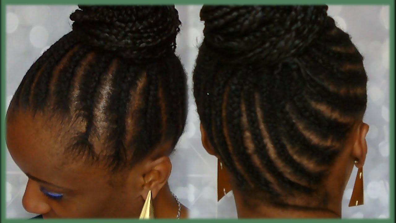 tuto tresses africaines chignon avec rajouts se tresser seule youtube. Black Bedroom Furniture Sets. Home Design Ideas