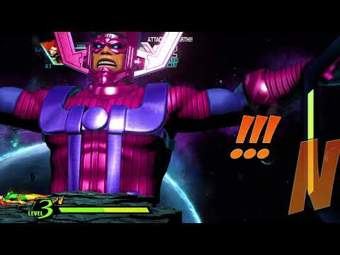Playing as Galactus in Ultimate Marvel vs Capcom 3 |