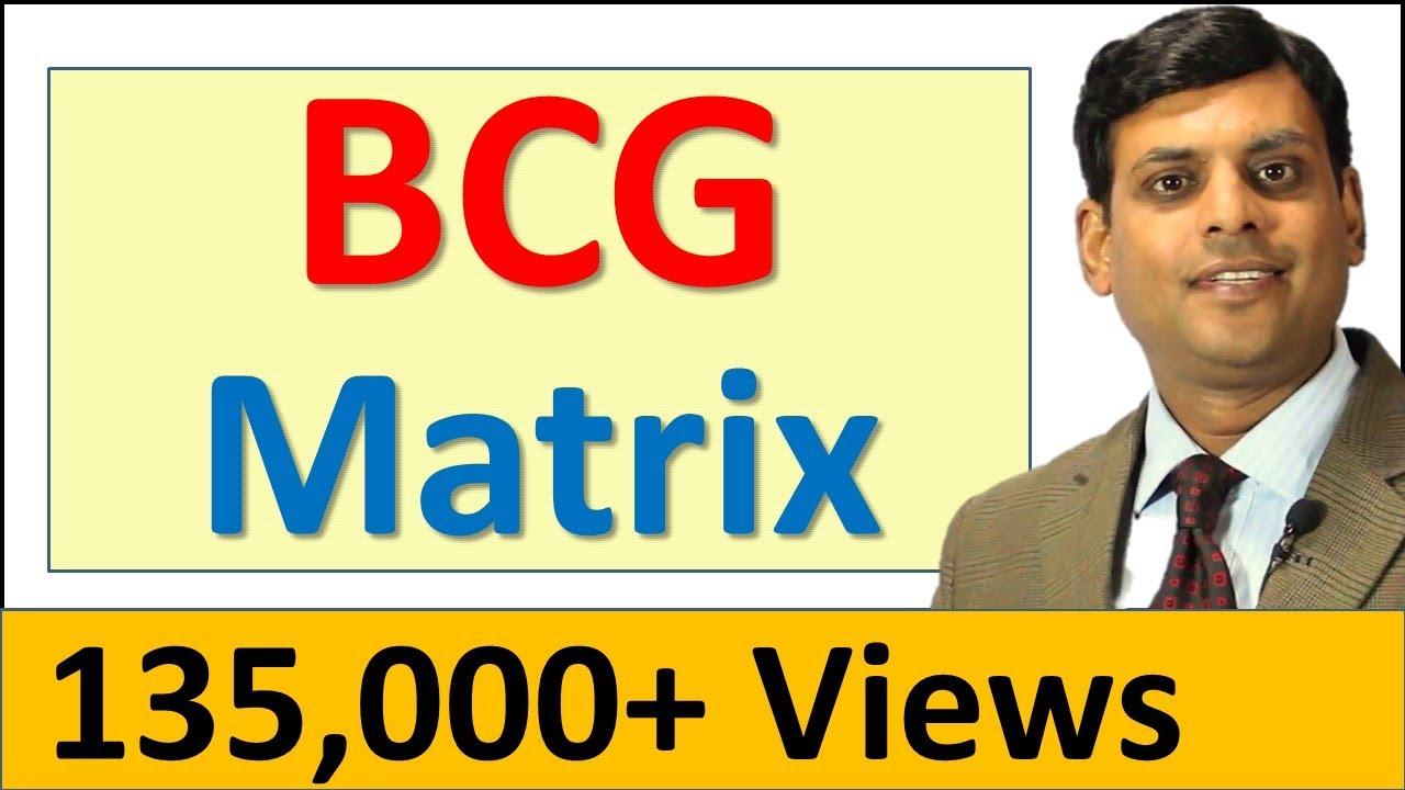 5  BCG Matrix - Marketing Lecture by Dr Vijay Prakash Anand