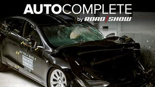 AutoComplete: Tesla has rare misstep in IIHS crash tests