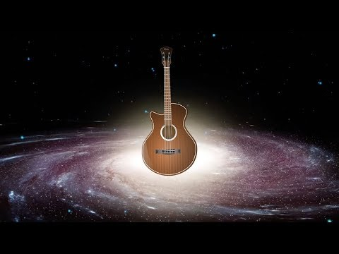 Space Time Guitar - 12 String Acoustic Fingerstyle with Animations - Guitarist Jams Ylia Callan