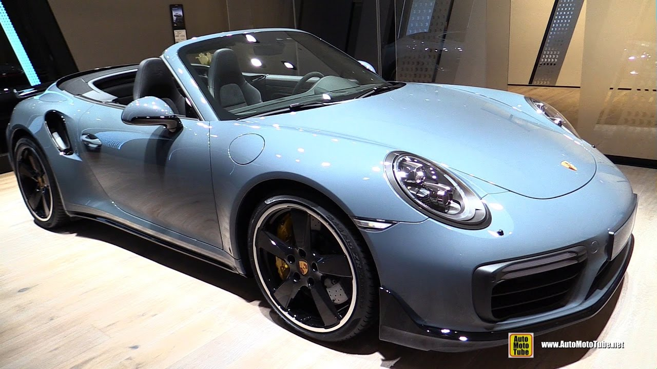 2017 Porsche 911 Turbo S Convertible Exterior And Interior Walkaround 2016 Paris Motor Show You