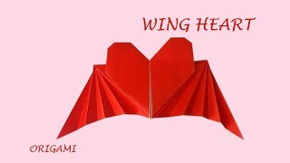 Wing heart - easy origami love for Fun DIY Thanks Giving