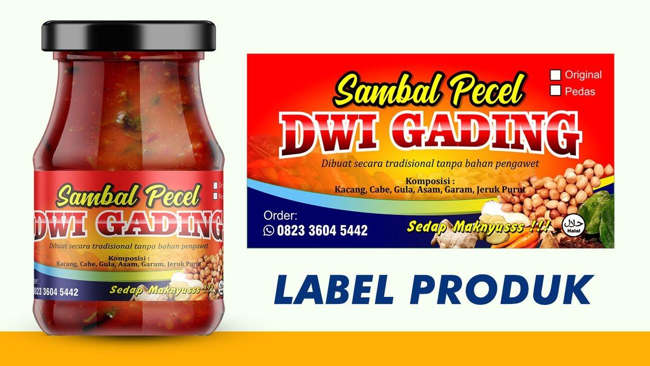 Cara membuat stiker label makanan di CorelDraw - Pemula
