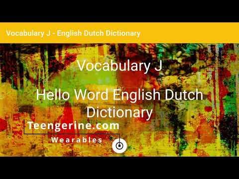 English - Dutch Dictionary - Vocabulary J