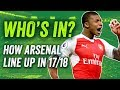 Arsenal 2017/18: How will they line up next season?