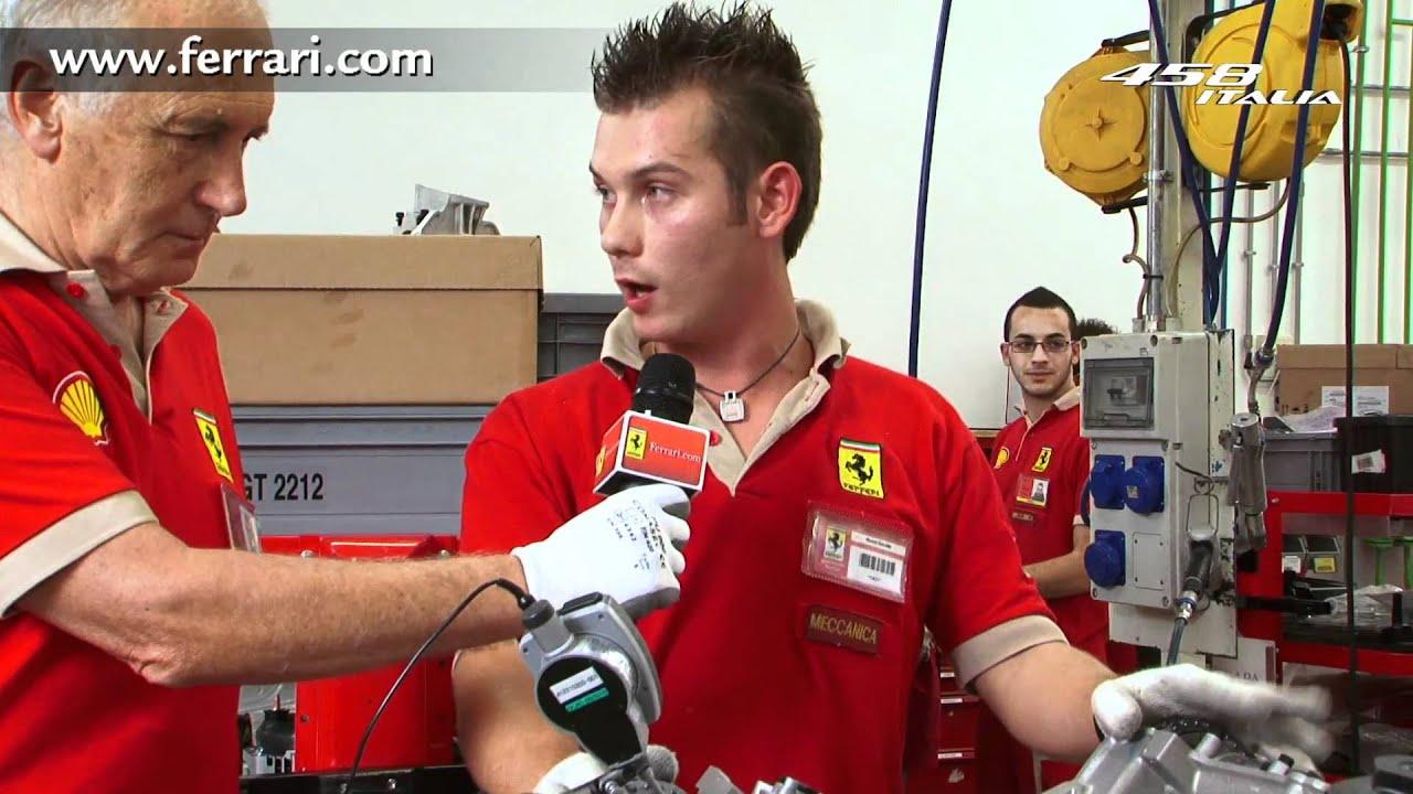 458 Italia. Costruiamo il motore