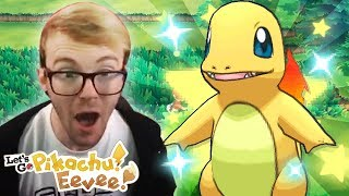 INCREDIBLE SHINY CHARMANDER REACTION • 18 COMBO! • Pokemon Let's Go Pikachu & Eevee Shiny Reaction!