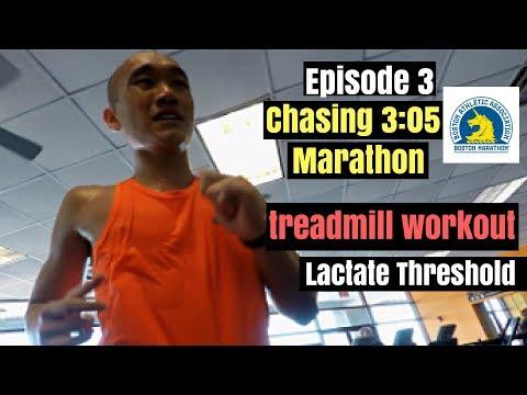 Training for 3:05 marathon / treadmill workout