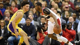 John Wall vs Lonzo Ball Rematch! Wall Dunks on Lopez! Lakers vs Wizards 2017-18 Season