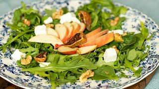 Arugula with Apples & Feta Salad