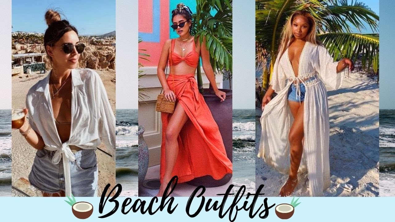 ? BEACH OUTFIT COMPILATION 2021 ? SPRING SUMMER BEACH VACATION TRENDY CLOTHES ? CASUAL STYLES ?