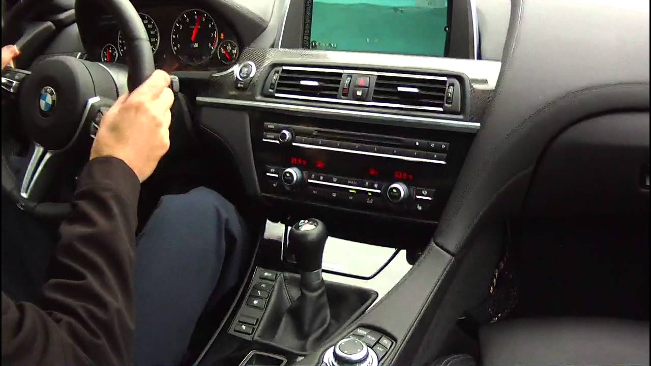BMW M6 F12 2013   manual transmission in action   YouTube
