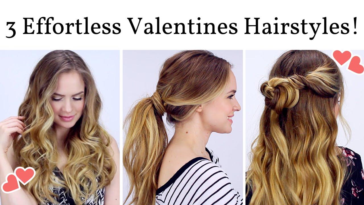 3 Effortless Date Night Hairstyles! YouTube