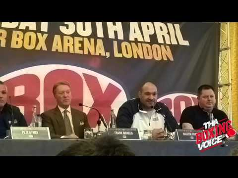 "Tyson Fury Threatens to Slap Eddie Hearn, Anthony Joshua ""They are Not Real Men."""