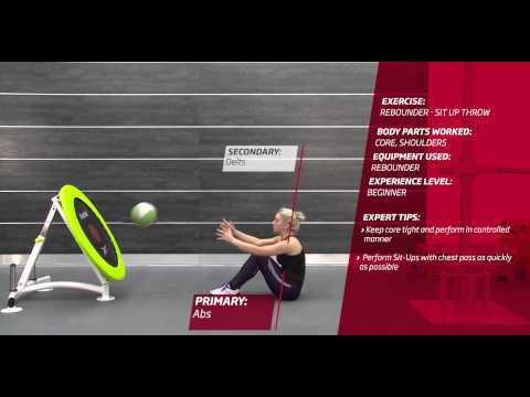Fitness First Freestyle exercise - Rebounder Sit Up Throw - Medicine Ball