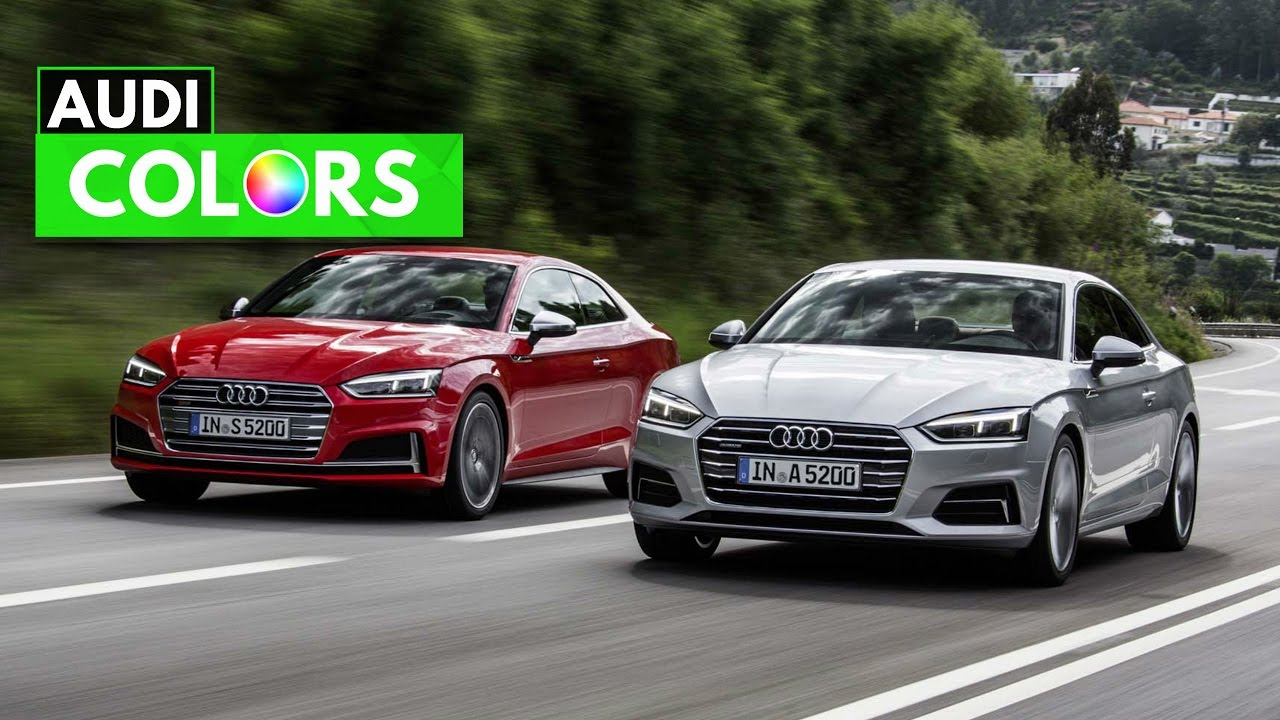 2018 Audi A5 S5 Coupe Colors Youtube