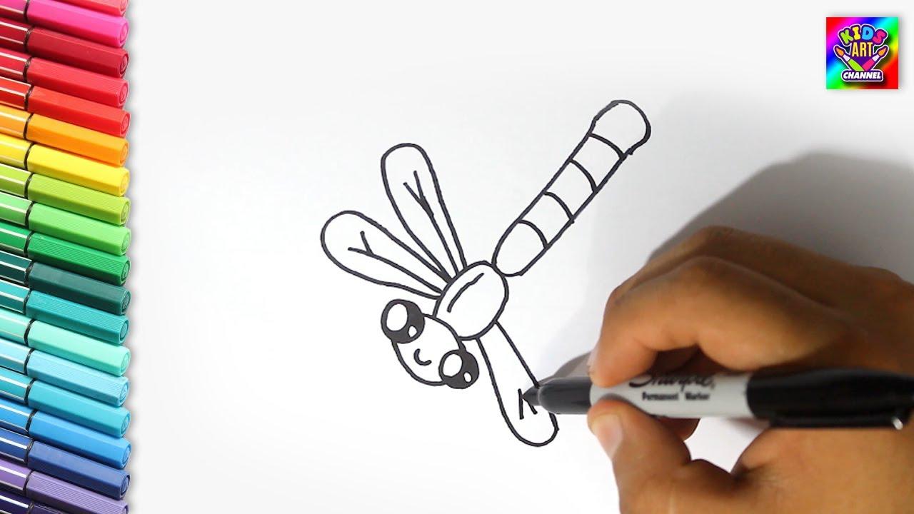 Como Dibujar una Libélula