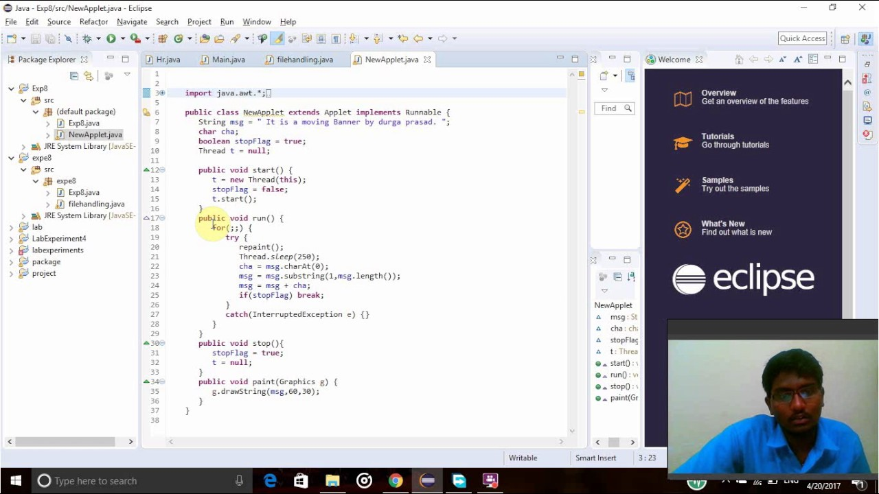 Create A Simple Java Applet Program To Demonstrate Moving Banner