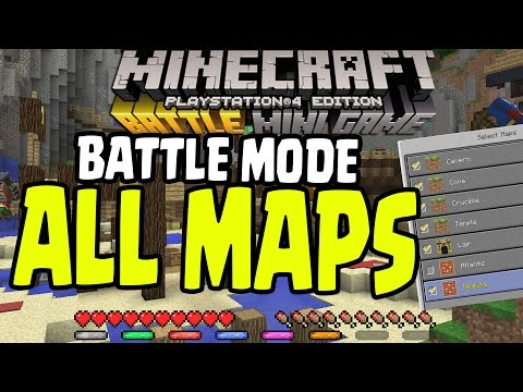 "Minecraft PS4/PS3/Xbox360/WiiU - ALL BATTLE MODE MINI-GAMES SERVER MAP PACKS ""MAP PACK"" UPDATE TU36"