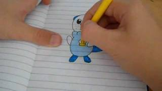Pokemon Oshawott sped drawing #4 - pokeDraw201