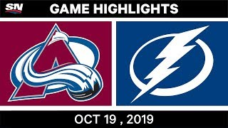 NHL Highlights | Avalanche vs. Lightning - Oct. 19, 2019
