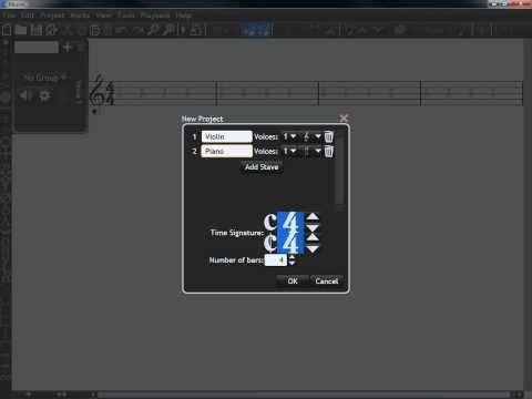 Micro-Tutorial: Changing Instruments in Musink (Free Notation Software)