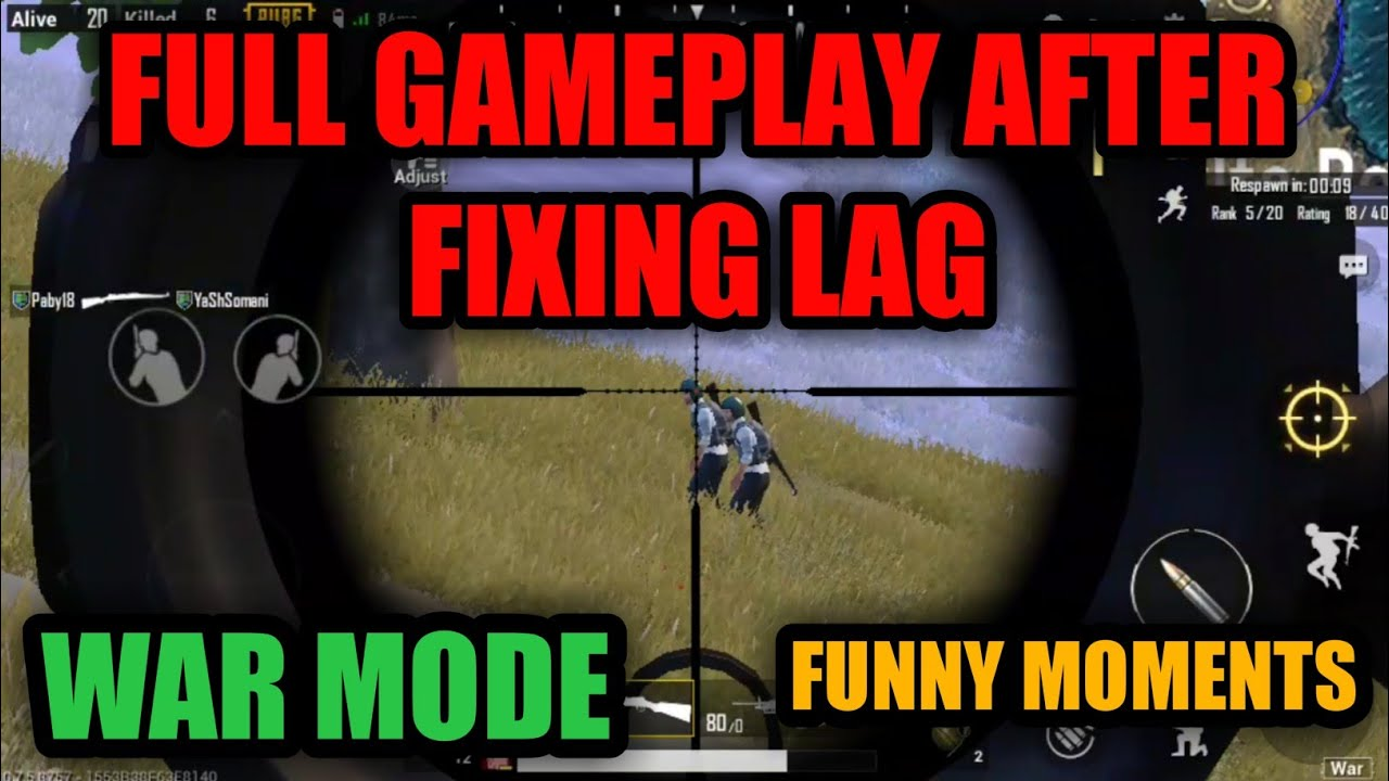 Pubg Mobile Hd No Lag: FULL GAMEPLAY AFTER FIXING LAG