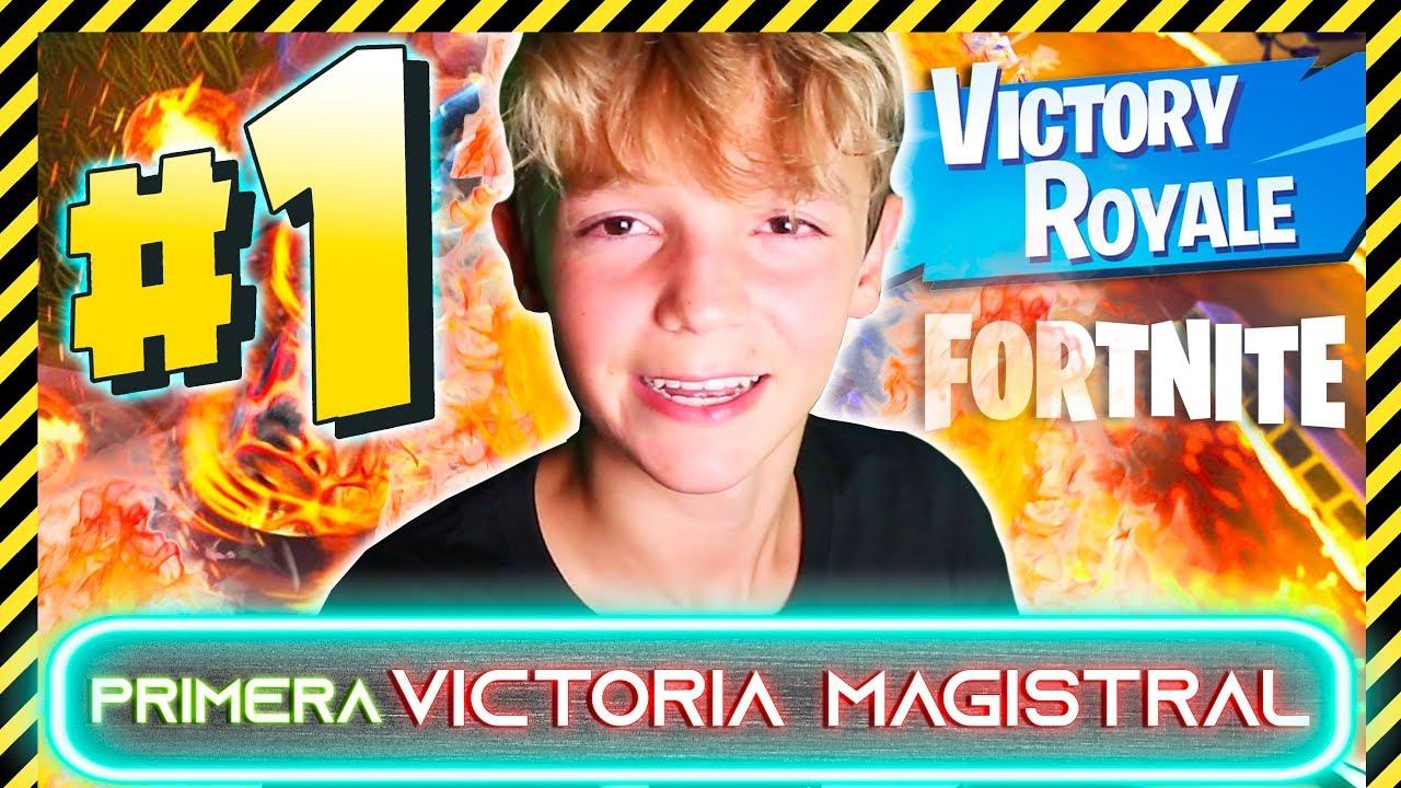 ¡MI PRIMERA VICTORIA MAGISTRAL!  🏆 en FORTNITE capitulo 2 🎮 - Hache Hax
