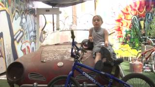 Backyard bike shop good for gear and life lessons