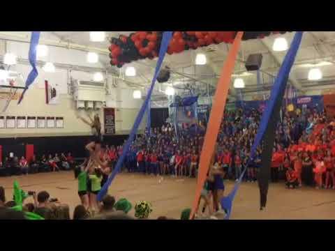 Fall Spirit Rally Los Gatos High School  Comp.  Cheer