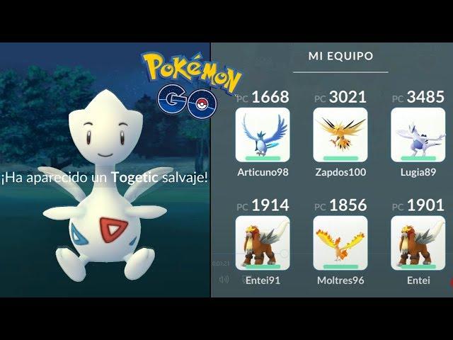 TEAM LEGENDARIO CON ENTEI MÁS TOGETIC SORPRESA! [Pokémon GO-davidpetit]