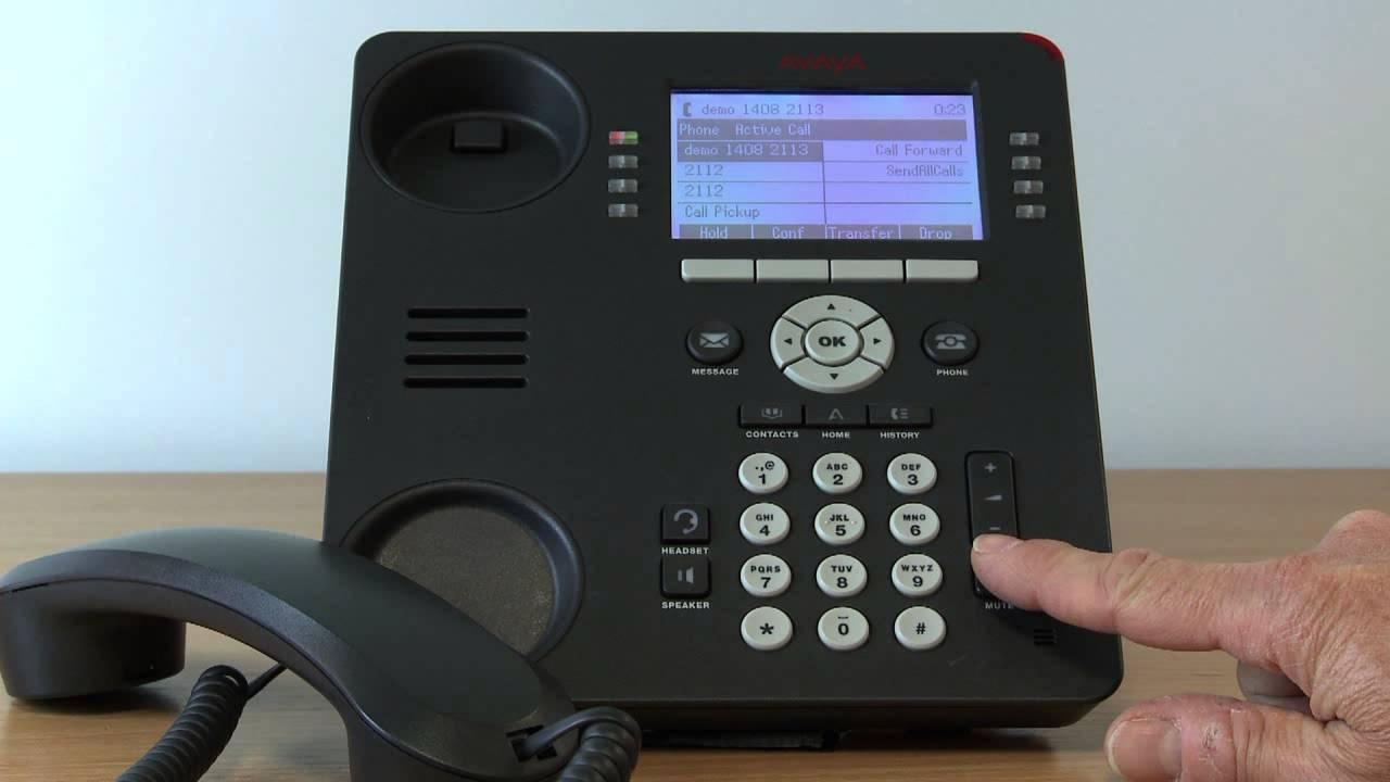 21 Avaya Telephone System Using Call Mute On The 9608