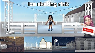 Bloxburg || I made an Ice Skating Rink Speed Build || ROBLOX